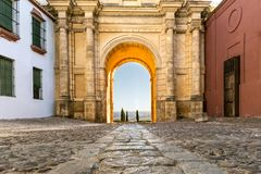 Cordoba Gate. In Carmona, Seville, Spain royalty free stock images