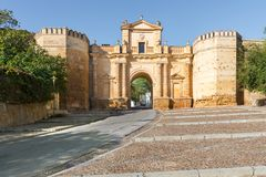 Cordoba Gate. In Carmona, Seville, Spain Stock Photography