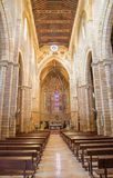 Cordoba - The gothic nave of medieval church Iglesia de San Lorenzo. Royalty Free Stock Photos