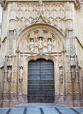 Cordoba - gothic portal of Royal hospital San Sebastian built to a design by Hernan Ruiz, el Viejo (1512 - 1516) Royalty Free Stock Photo