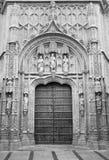 Cordoba - The gothic portal of Royal hospital San Sebastian built to a design Stock Photography
