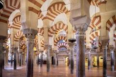 Cordoba Het Grote Moskee of Mezquita beroemde binnenland in Cordoba, Spanje stock fotografie