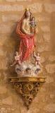 CORDOBA HISZPANIA, MAJ, - 27, 2015: Rzeźbimy polichromują statuę madonna w kościelnym Iglesia De San Lorenzo obraz royalty free