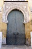cordoba ingång mezquita spain Arkivbilder