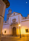 Cordoba - Kirche Iglesia De San Andres an der Dämmerung mit dem späten barocken Portal Stockbilder