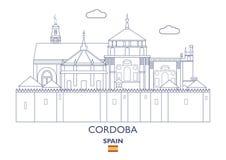 Cordoba City Skyline, Spain Royalty Free Stock Photo