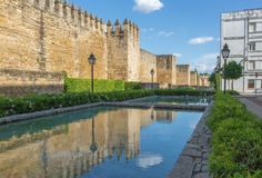 Cordoba - The medieval walls of the town in evening light. Royalty Free Stock Photos