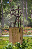 Cordoba - monern fontanna w Jardines De Los angeles Agricultura Obraz Stock