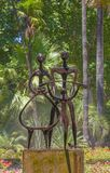 Cordoba - monern fontanny ` Agricultor, Agricultura, y Progreso ` Jose Carrilero 1964 w Jardines De Los angeles Agricultura Zdjęcie Royalty Free