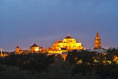 Cordoba mosque. Overview of the Cordoba mosque at night Royalty Free Stock Images