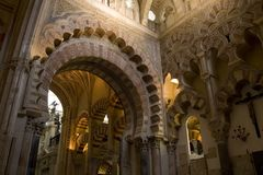 Cordoba Mosque Interior Stock Photography