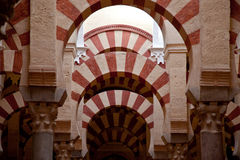 Cordoba Mosque interiors Royalty Free Stock Images