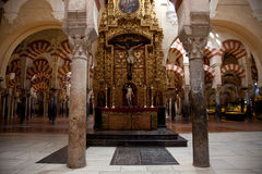 Cordoba Mosque interiors Stock Photography