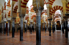 Cordoba mosque (mesquita) inside Stock Photo