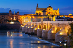 Cordoba in night.   Spain Royalty Free Stock Photos