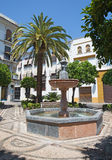 Cordoba - The Plaza de San Andres square with the little fountain. Stock Images