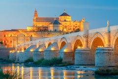 Cordoba Römische Brücke lizenzfreies stockbild