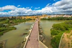 Cordoba Roman Bridge royaltyfria foton