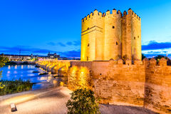 Cordoba - Roman Bridge, Andalusia, Spain Stock Photography