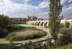 Cordoba Roman Bridge. Roman Bridge built in the early 1st century BC across the Guadalquivir river in Cordoba, Spain royalty free stock image
