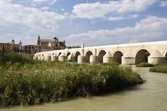 Cordoba Roman Bridge. Roman Bridge built in the early 1st century BC across the Guadalquivir river in Cordoba, Spain stock photos