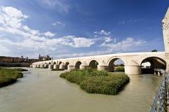 Cordoba Roman Bridge. Roman Bridge built in the early 1st century BC across the Guadalquivir river in Cordoba, Spain stock images