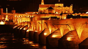 Cordoba. Roman bridge stock video