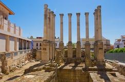 cordoba roman spain tempel arkivfoton
