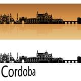 Cordoba Skyline in Orange Stock Photo