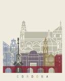 Cordoba skyline poster Stock Images