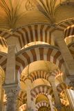 Cordoba Spain. Interior La Mezquita The Great Mosque Royalty Free Stock Images