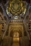CORDOBA, SPAIN - April, 18, 2012: Interior of Mezquita-Catedral. A medieval Islamic mosque that was converted into a Catholic Christian cathedral Royalty Free Stock Image