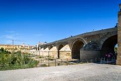 Roman Bridge over Guadalquivir River Stock Photos