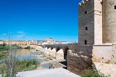 Roman Bridge over Guadalquivir River Royalty Free Stock Photo