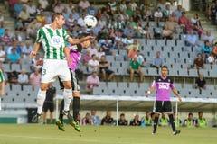 CORDOBA, SPAIN - AUGUST 18: Abel G�mez W(23) in action during match league Cordoba (W) vs Ponferradina (B)(1-0) Stock Images