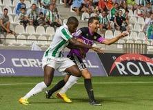 CORDOBA, SPAIN - AUGUST 18:  Ayina John W(11) in action during match league Cordoba (W) vs Ponferradina (B)(1-0) Royalty Free Stock Image