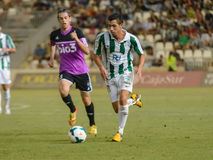 CORDOBA, SPAIN - AUGUST 18:  Carlos Caballero W(21) in action during match league Cordoba (W) vs Ponferradina (B)(1-0) Royalty Free Stock Image