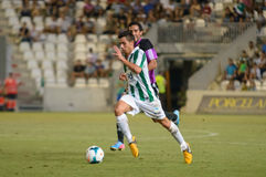 CORDOBA, SPAIN - AUGUST 18:  Carlos Caballero W(21) in action during match league Cordoba (W) vs Ponferradina (B)(1-0) Stock Images