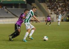 CORDOBA, SPAIN - AUGUST 18:  L�pez Silva W(19) in action during match league Cordoba (W) vs Ponferradina (B)(1-0) Stock Images