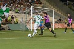 CORDOBA, SPAIN - AUGUST 18:  L�pez Silva W(19) in action during match league Cordoba (W) vs Ponferradina (B)(1-0) Royalty Free Stock Photo