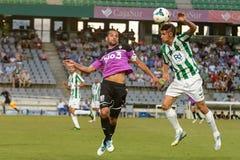CORDOBA, SPAIN - AUGUST 18:  Luis Eduardo  W(6) in action during match league Cordoba (W) vs Ponferradina (B)(1-0) at the Municipa Royalty Free Stock Image
