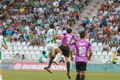 CORDOBA, SPAIN - AUGUST 18:  Pedro Antonio Sanchez W(15) in action during match league Cordoba (W) vs Ponferradina (B)(1-0) at the Royalty Free Stock Photography