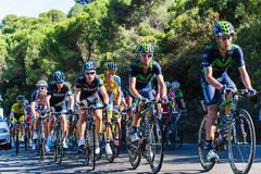 CORDOBA, SPAIN - August 26th, 2014: Alejandro Valverde (Movistar Team) in the main group, during a stage of La Vuelta. Stock Images