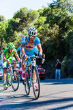 CORDOBA, SPAIN - August 26th, 2014: Alexey Lutzenko (Astana Pro Team) during a stage of La Vuelta. Hard climbing on andalusian roads Stock Images