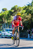 CORDOBA, SPAIN - August 26th, 2014: Jérôme Coppel (Cofidis Pro Cycling team) during a stage of La Vuelta Royalty Free Stock Photography