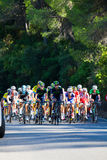 CORDOBA, SPAIN - August 26th, 2014: Leader group of cyclist during a stage in tour of spain. Stock Image