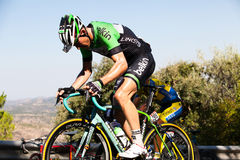 CORDOBA, SPAIN - August 26th, 2014: TJALLINGII Maarten (Belkin Pro Cycling) passing the last port of the 4th stage of La Vuelta Stock Photography