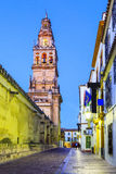 Cordoba, Spain. Bell tower at the Mezquita Mosque-Cathedral Stock Photography