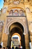 Beautiful door of the Mosque of Cordoba royalty free stock photography