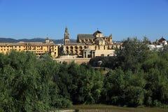 cordoba spain Den stora moskén (aktuellt katolsk domkyrka) Lokal för Unesco-världsarv royaltyfria bilder